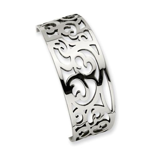 Chisel Stainless Steel Cuff Bangles