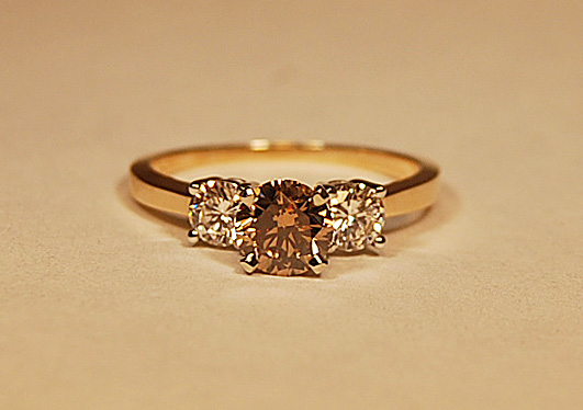 FABULOUS DIAMOND THREE STONE 1.30 CARAT RING (SORRY SOLD)